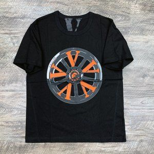 Vlone x Forgiato Rims Orange on Black Tee